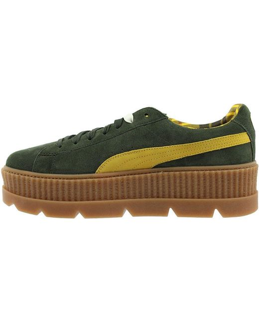 brand new 54581 779aa Men's Green Fenty By Rihanna Suede Cleated Creeper