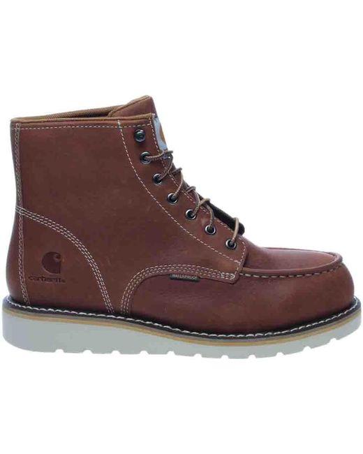 Carhartt | Brown 6in Moc Toe Wedge Tan Boot | Lyst