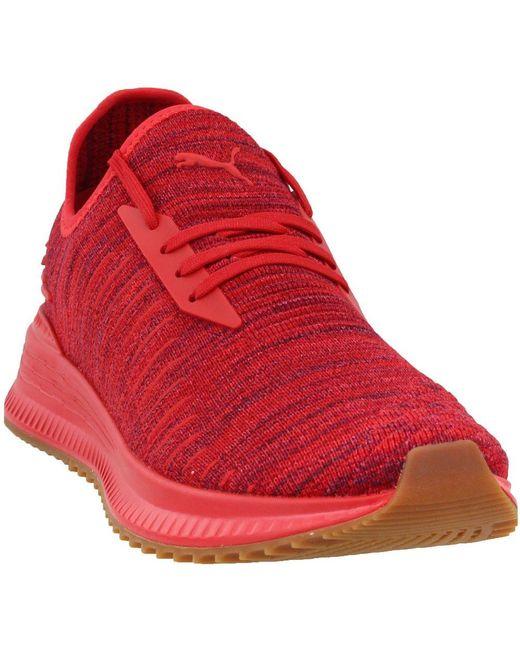 Shoebacca: Puma Mens Avid Evoknit Su Khaki Casual Sneakers |