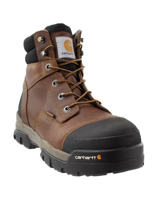 Carhartt - 6 Ground Force Waterproof Composite Toe Work Boot (brown Oil Tanned Leather) Men's Work Lace-up Boots for Men - Lyst