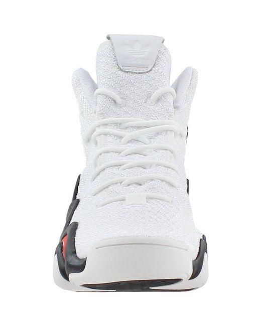 lowest price 6d1b5 89fcc ... Adidas - White Crazy 8 Adv Primeknit for Men - Lyst ...