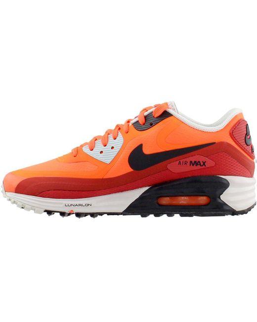 Men's Orange Air Max Lunar90 Wr