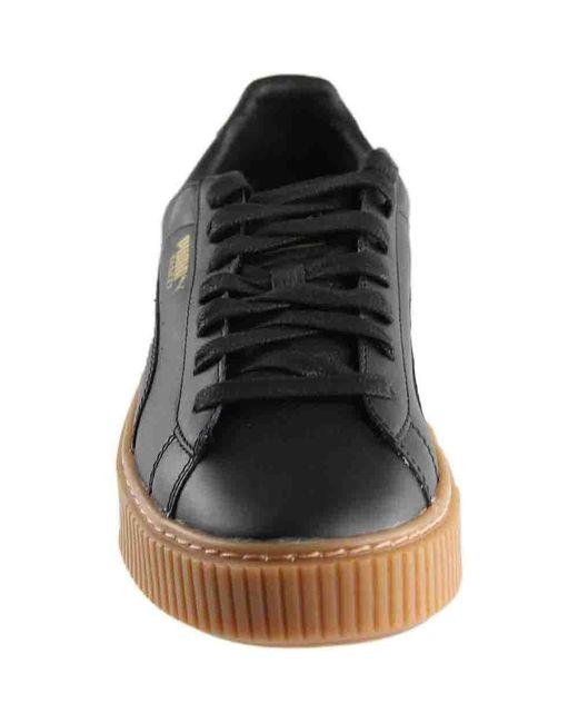 reputable site dc02b f598b Women's Black Basket Platform Core Fashion Sneaker