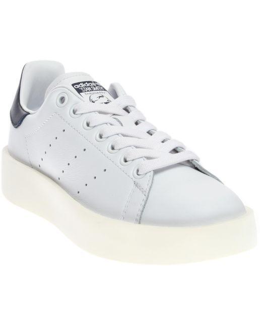 Adidas - White Stan Smith Bold - Lyst