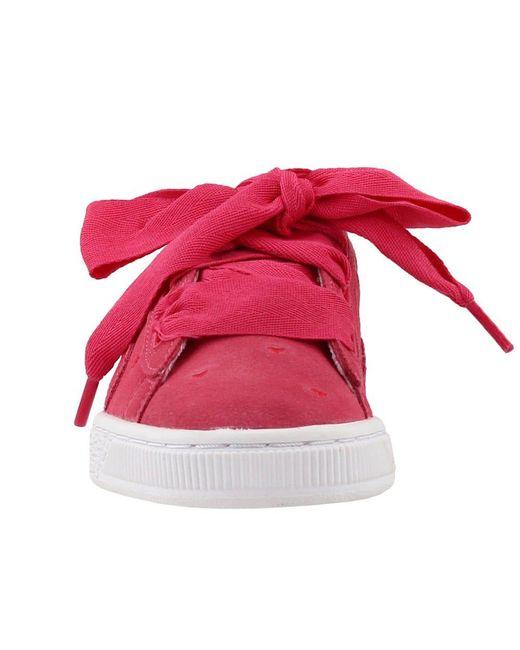 PUMA Suede Heart Valentine Junior in Pink Save 68% Lyst