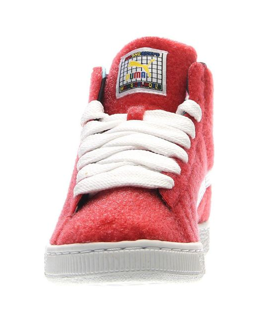 fb33ed53bc22 Lyst - Puma X Dee   Ricky Basket Mid W in Red for Men - Save 26%