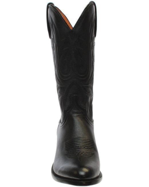 b3e1469cfcb Men's Black Carson Lonestar Calf Leather Boots