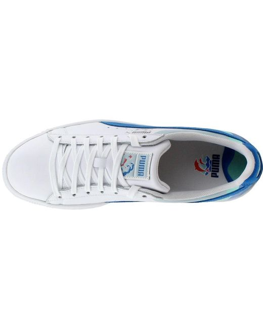 sports shoes e93f9 aae03 Lyst - PUMA Pink Dolphin Clyde in White for Men - Save 46%
