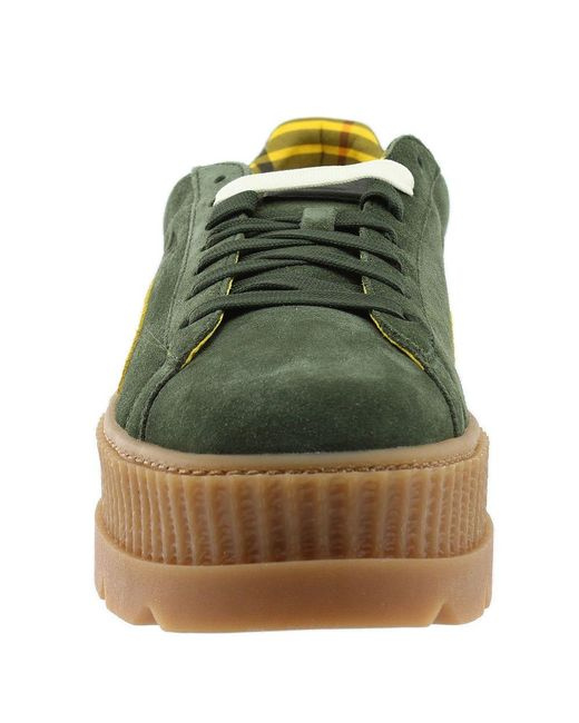 brand new 73198 98591 Men's Green Fenty By Rihanna Suede Cleated Creeper
