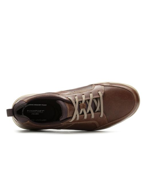 Rockport Leather City Edge Lace Up Shoe In Brown For Men Lyst