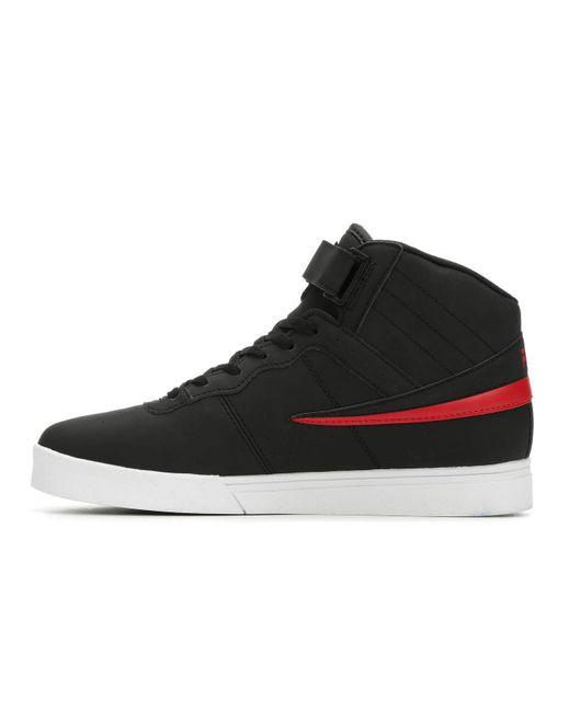 Fila Mens Vulc 13 MP Matte Sneaker,Black//RED,13