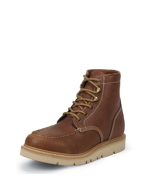 Justin Boots - Brown Jacknife Mocc Toe for Men - Lyst
