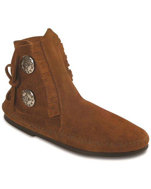 Minnetonka - Brown Two Button Boot - Lyst