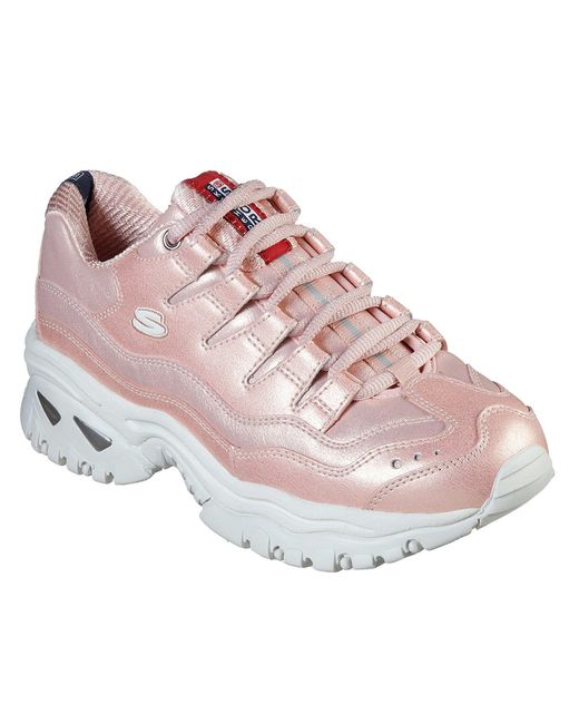 skechers pink tennis shoes