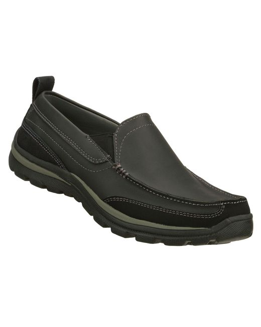 Skechers Black Relaxed Fit: Superior - Gains for men