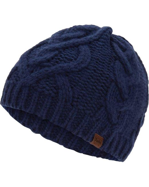 Keds - Blue Large Cable Knit Beanie - Lyst