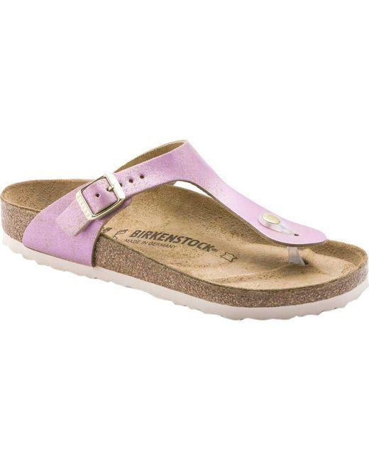 06d4e6c039cc Lyst - Birkenstock Gizeh Leather Thong Sandal in Metallic