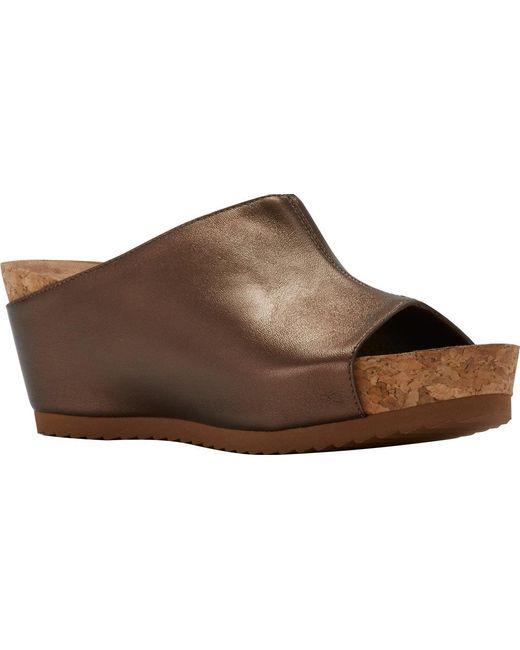 Walking Cradles - Brown Tiegan Wedge Slide Sandal - Lyst