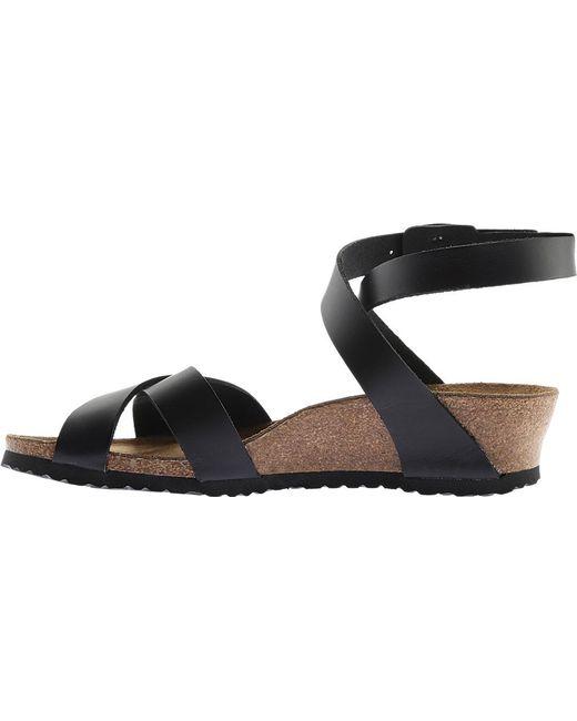 ba0b69e5710 ... Birkenstock - Black Papillio Lola Leather Ankle Strap Sandal - Lyst ...