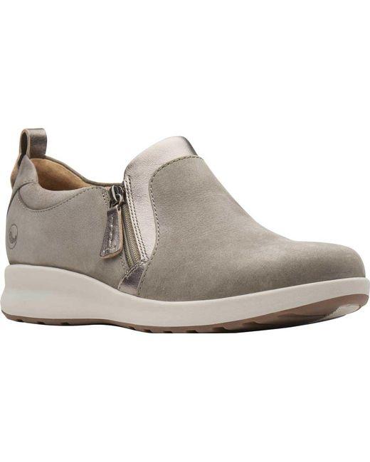 b2722163d8e Clarks - Multicolor Un Adorn Zip Womens Wide Fit Casual Shoes - Lyst ...