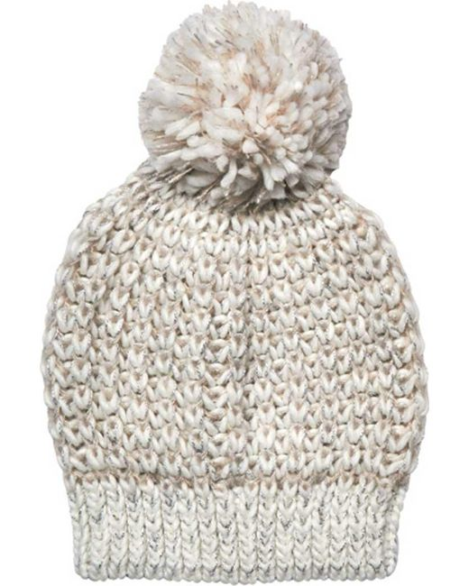 San Diego Hat Company - White Metallic Yarn Beanie With Pom Knh3604 - Lyst