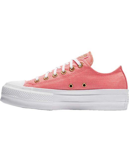 ... Converse - Pink Chuck Taylor All Star Lift Platform Sneaker - Lyst ... 1094eeb60