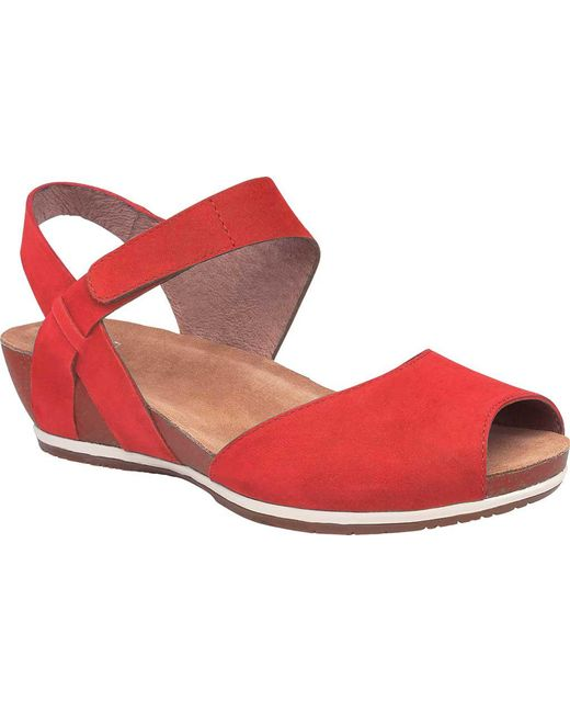 Vera Burnished Leather Banded Backstrap Wedge Sandals r41kjhjTAc