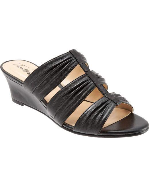 Trotters | Black Mia Slide Wedge Sandal | Lyst