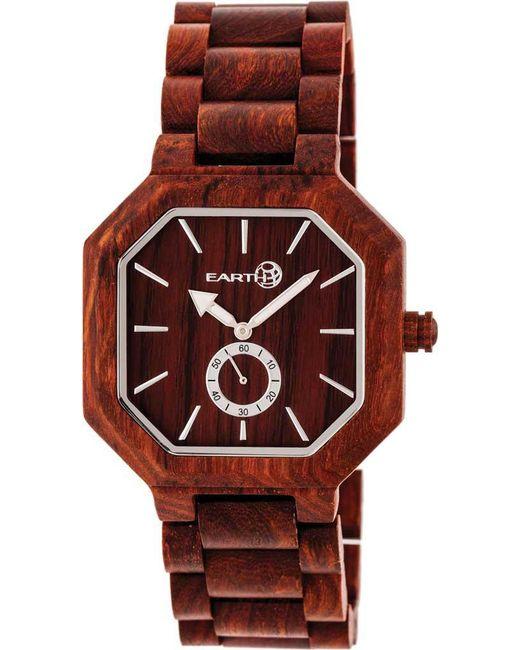 Earth Wood - Red Acadia Bracelet Watch - Lyst