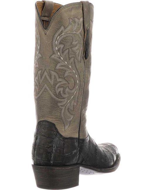 ... Lucchese Bootmaker - Gray Burke 7 Toe Western Boot for Men - Lyst