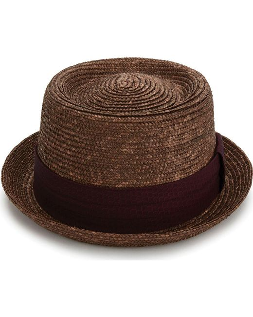 b0ca7dc4be3 ... Original Penguin - Brown Round Top Straw Porkpie Hat for Men - Lyst ...