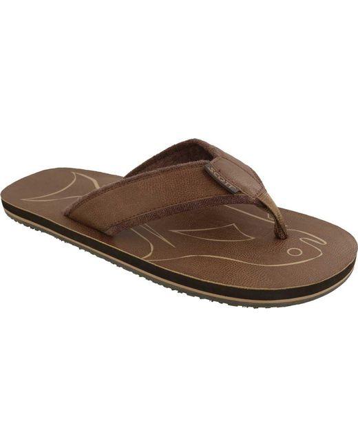Scott Hawaii - Brown Papio Flip Flop for Men - Lyst