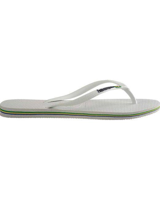 5791ea7f5cda72 ... Havaianas - White Slim Brazil Flip Flop - Lyst ...