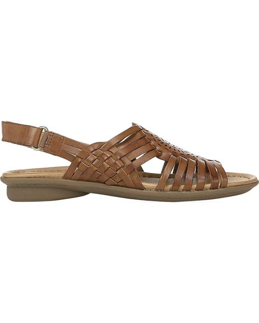 a39ce40b90d9f Lyst - Naturalizer Whistle Huarache Sandals in Brown - Save 1%