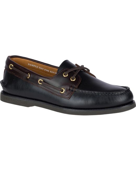 Sperry Top-Sider - Black Gold Cup A/o 2-eye Boat Shoe for Men - Lyst