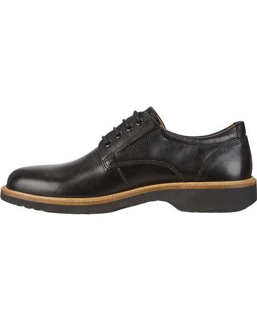 ... Ecco - Black Ian Derby Tie for Men - Lyst ...