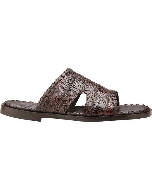 85eae4a29a41 Belvedere - Brown Palma Slide Sandal for Men - Lyst ...