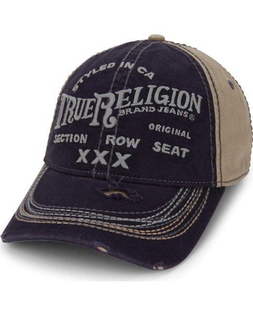 True Religion - Blue Triple X Baseball Cap for Men - Lyst