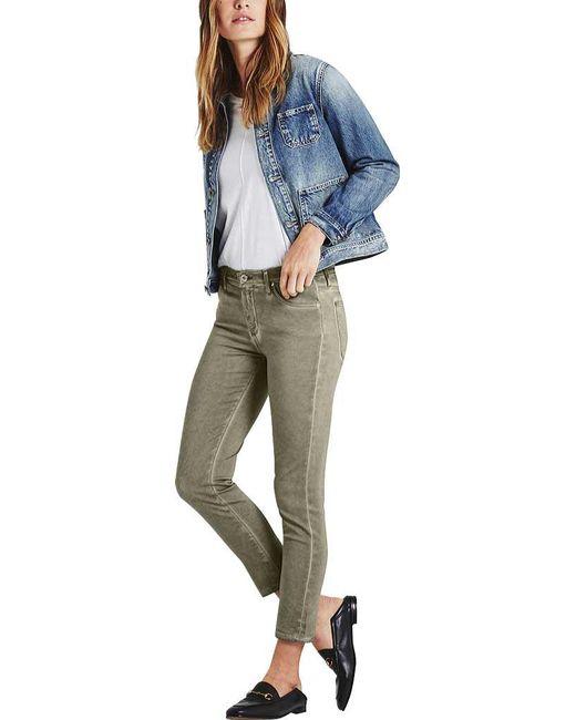 AG Jeans - Metallic Prima Crop Jean In Sea-soaked Silver Se - Lyst