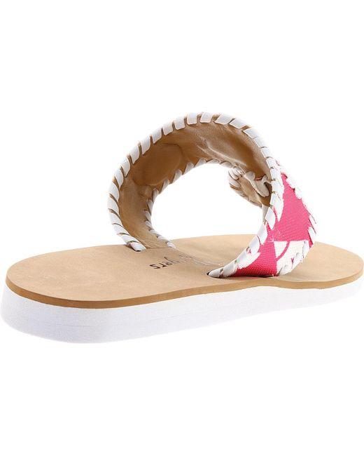 f353dc5920d3 ... Jack Rogers - Pink Captiva Thong Sandal - Lyst ...