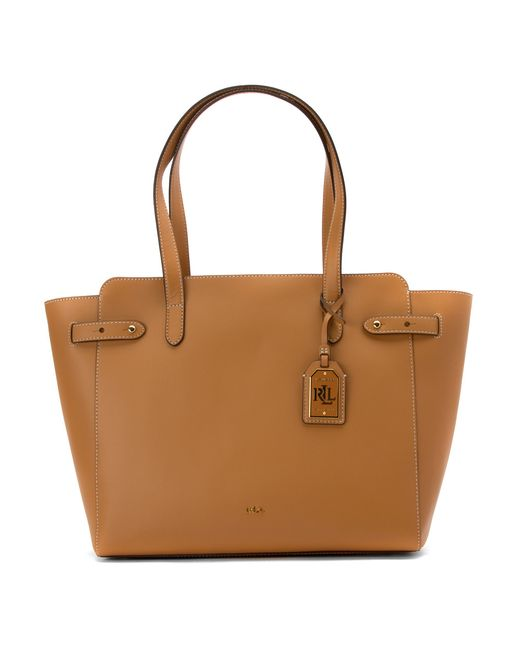 Lauren by ralph lauren Harper Parker Tote in Brown | Lyst