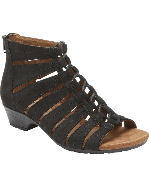 Rockport - Black Cobb Hill Gabby Gladiator Bootie - Lyst