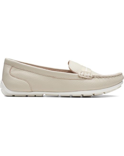 6685eac4615 Lyst - Clarks Dameo Vine Driving Moc in White - Save 13%