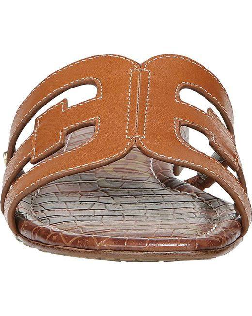 f8ae52f609af ... Lyst Sam Edelman - Brown Bay (almond Patent) Women s Slide Shoes ...