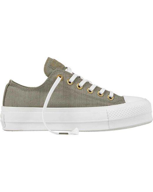 Converse - Gray Chuck Taylor All Star Lift Platform Sneaker - Lyst ... 3455bfec7