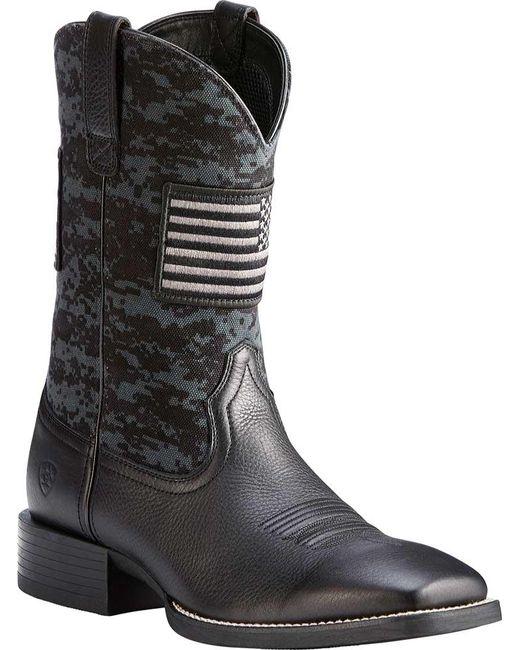 9d254ae7685 Men's Black Sport Patriot Western Boots