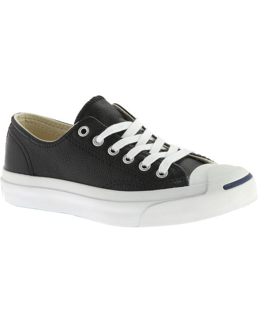 46fac4469d70 Converse - Black Jack Purcell Jack Leather Ox Sneaker for Men - Lyst ...