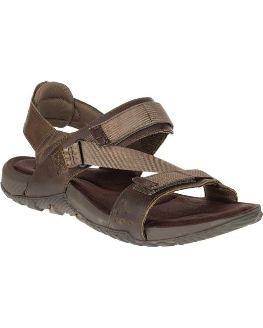 e2f777fe1d80 Merrell - Brown Terrant Active Sandal for Men - Lyst ...