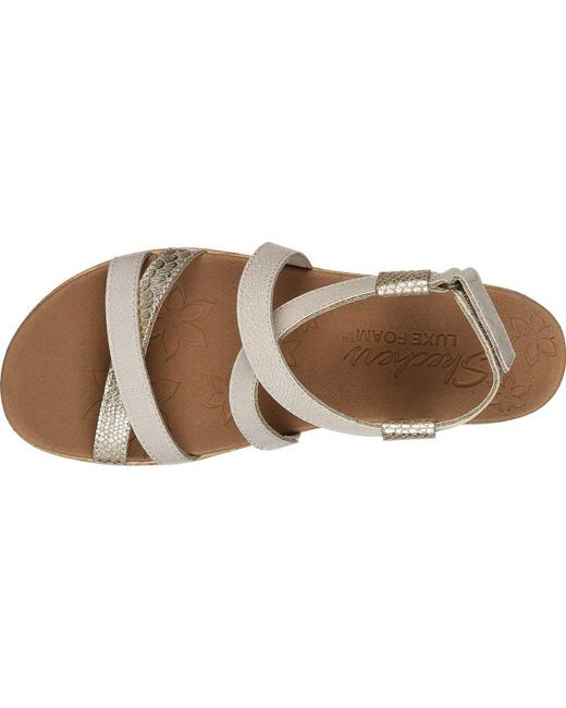 c29e8ccdfaa ... Skechers - Natural Brie Desert Dance Strappy Sandal - Lyst ...