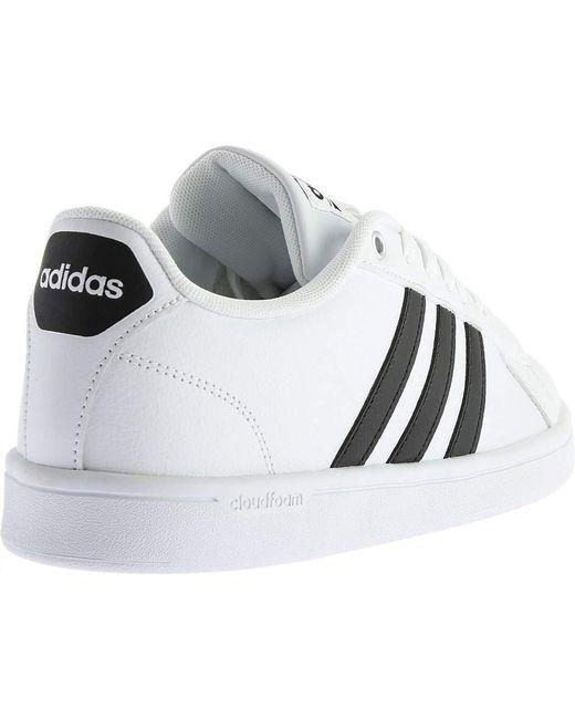 28904772060c ... Adidas - White Neo Cloudfoam Advantage Stripe Court Shoe for Men - Lyst  ...